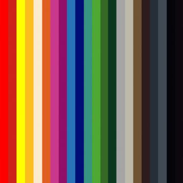 ROVASI chart: 25 colours to choose