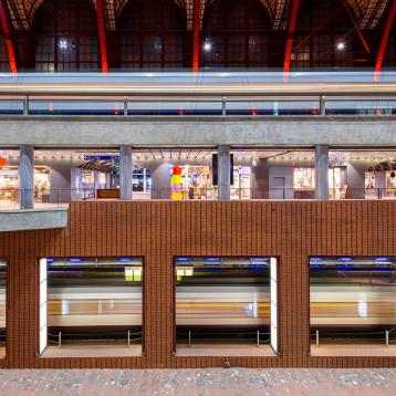 ROVASI lights up the Antwerp Central Station, Belgium.