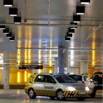 The engineering firm in charge of lighting for the HARPA underground car park placed its trust in ROVASI luminaires