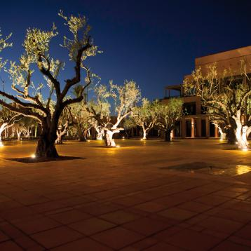 ROVASI lights up the exterior of the Hôtel Palmeraie Golf Palace in Marrakech, Morocco.