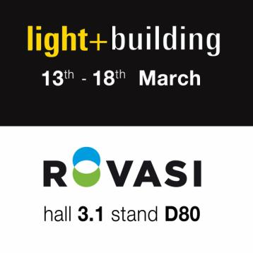ROVASI at Light+Building 2016 | Hall 3.1 Stand D80