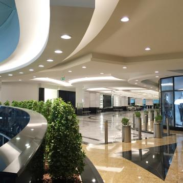 ROVASI lights up the VIP valet parking area at the Mall of the Emirates