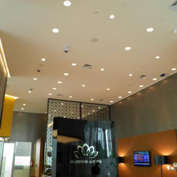 ROVASI provides lighting for the Bank International Indonesia branch in Jakarta.